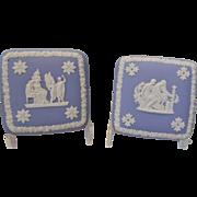 "Wedgwood Blue Jasperware Replacement Lids for 4""  Trinket box"