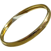 "Gold tone Bangle Bracelet for Child ""Little Folks"""