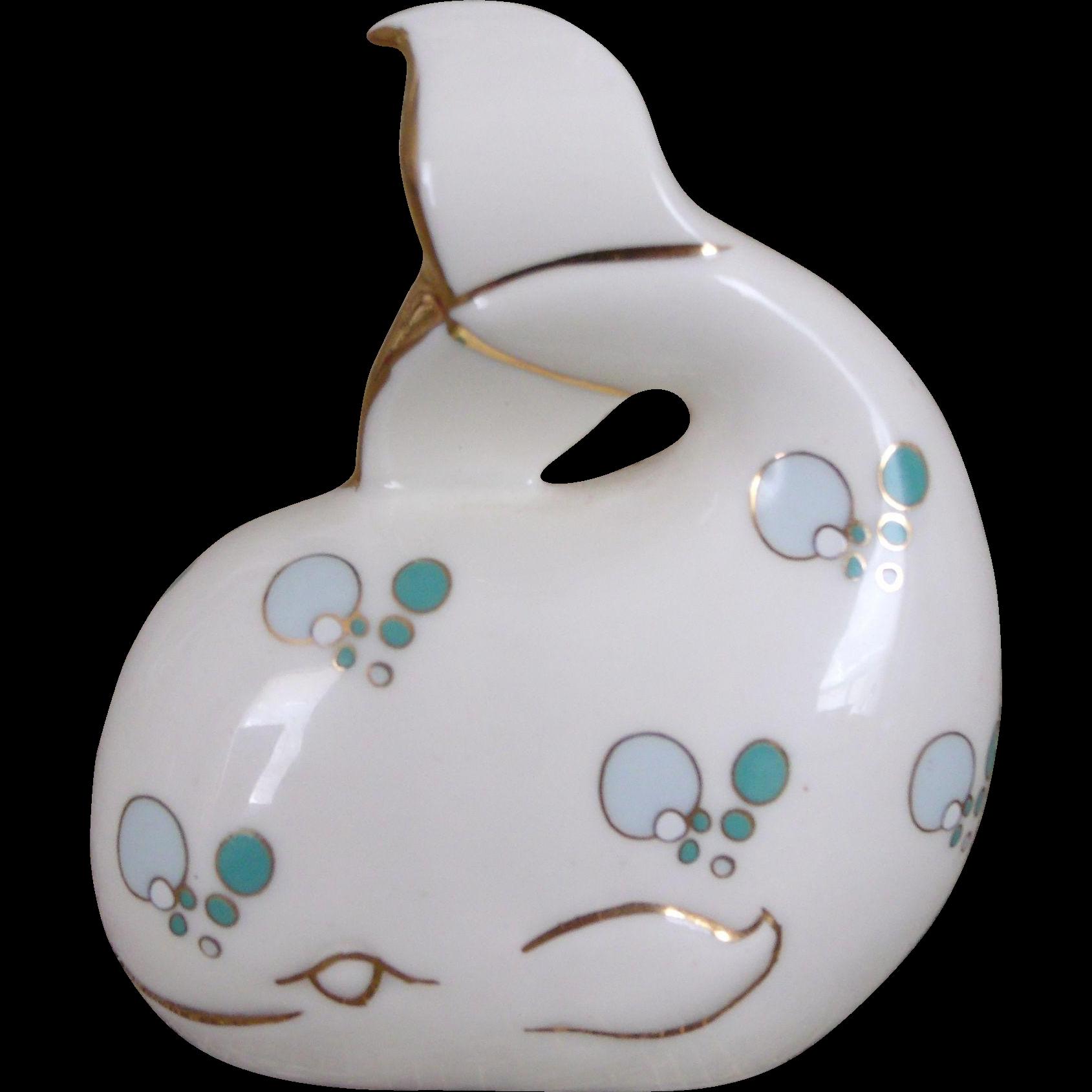Cutest Little Whale Figurine Royal Tara Fine Bone China