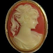 Vintage Cameo Pendant Brooch Perfume Locket Aroma Diffuser