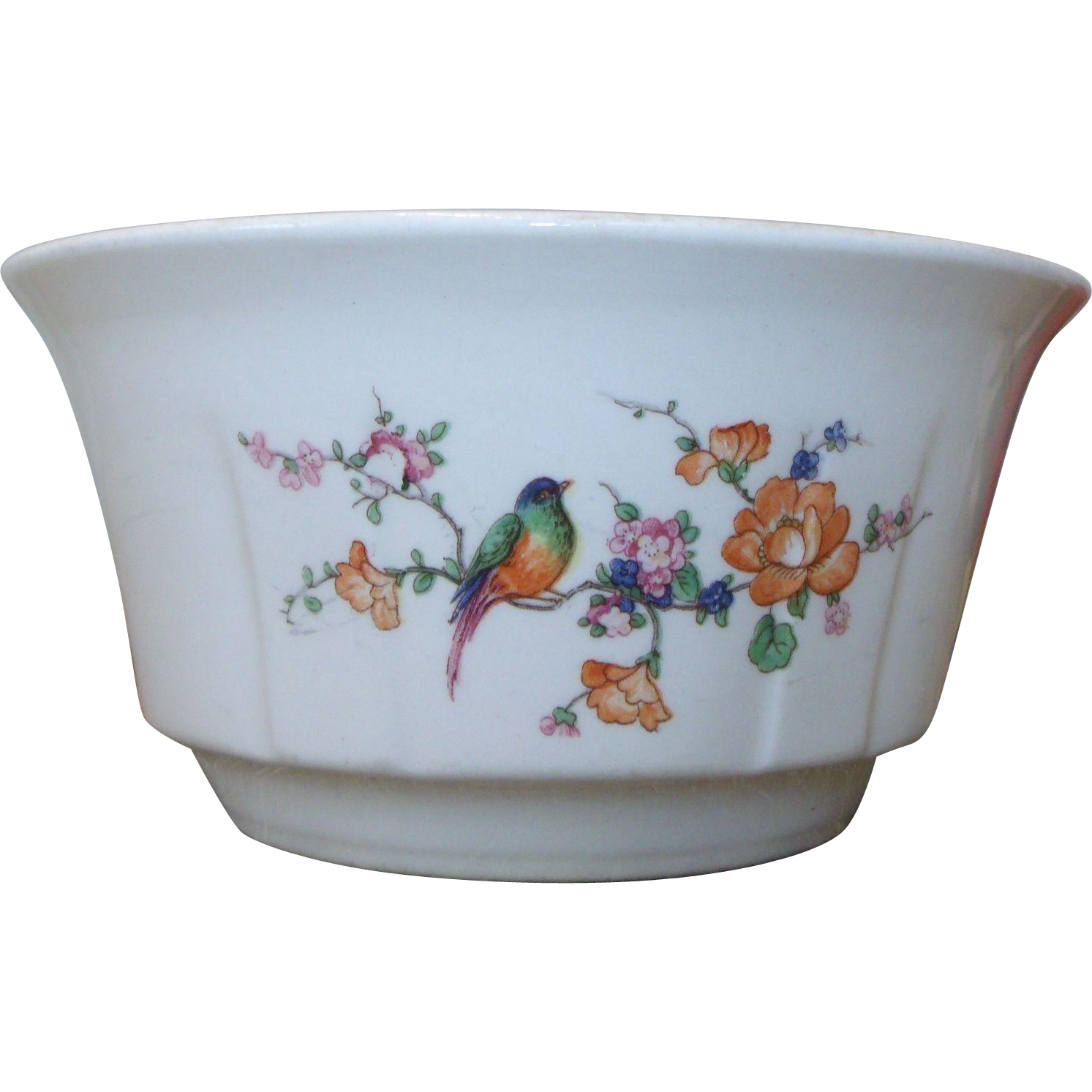 Knowles, Taylor & Knowles - Ivory Bowl Colorful Bird on Branch