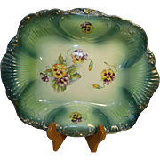 Empire Works Porcelain Bowl Shelton (Hanley), Stoke-on-Trent Green Pansy