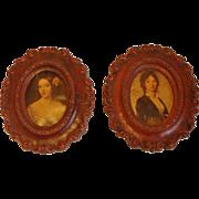 2 Ornate Syroco Miniature Frames Syracuse Ornamental Co