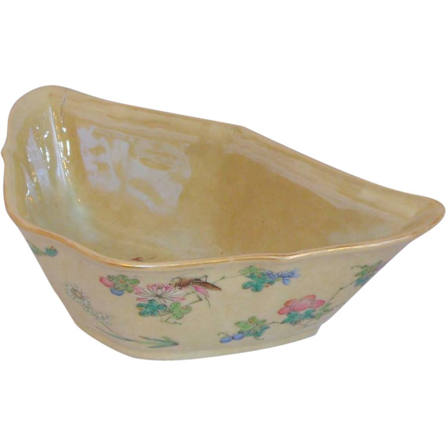 """A Finely Painted Chinese Porcelain """"Cafe au Lait"""" Bowl Daoguang Mark & Period"""