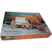 1977 Allwood Wooden Chuck Wagon Craft Kit - Sealed vintage toy Woodcraft