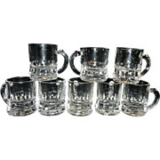 Vintage Federal Mini Beer Mug Shot Glasses