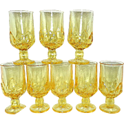 Vintage Corn Silk Franciscan Cabaret Iced Tea Goblets by Tiffin Glass Co.