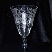 Vintage Morgantown Lace Bouquet #7668- Water Glasses