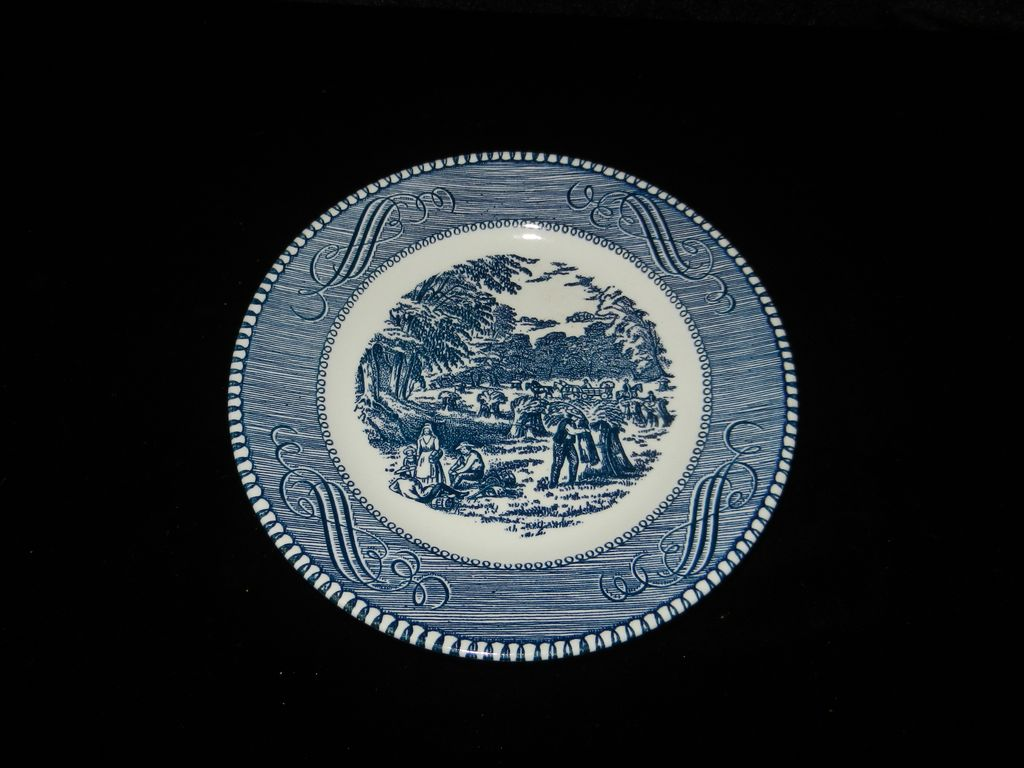 Vintage Currier and Ives Royal China Harvest Bread and Butter Plate T