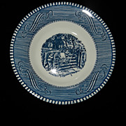 Vintage Currier and Ives Royal China Old Farm Gate Berry/Dessert Bowl