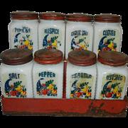 Vintage Tipp City Cornucopia Spice Set