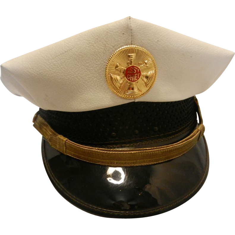 Vintage Assistant Fire Chief Hat From Mygrandmotherhadone