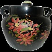 Vintage Yellow Stoneware Bean Pot or Cookie Jar
