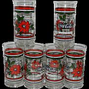 Vintage Coca-Cola Whataburger Christmas Glasses