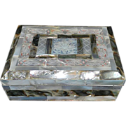 Vintage Mother of Pearl and Abalone Vanity/Jewelry Box