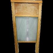 Vintage Glass Ribbed Wash Board