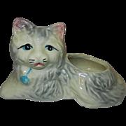 Vintage Ceramic Cat Planter