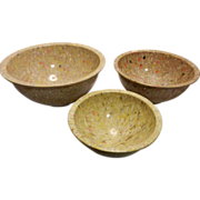 Vintage Texas-Ware Confetti or Splatter Ware Mixing Bowl Set - Red Tag Sale Item