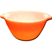 Vintage Anchor Hocking Fire King Orange Hombre Nesting Bowl