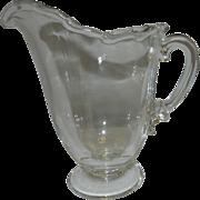 Vintage Fostoria Glass Century Footed Milk Pitcher