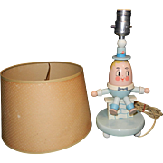 Vintage Story Book Humpty Dumpty Table Lamp