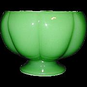 Vintage Fenton Jadeite Art Glass Melon Bowl