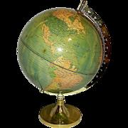 Vintage Untitled Illuminated World Globe