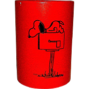 Vintage 1950 Snoopy Pen and Pencil Holder