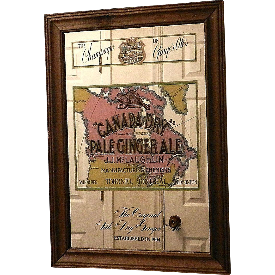 Vintage Canada Dry Ginger Ale Advertising Mirror My