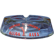 Vintage Glass Advertising Ashtray for George Youngers Alloa Ale