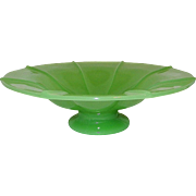 Vintage Fenton Jadeite Art Glass Compote