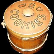 Vintage Wooden Cookie Bucket