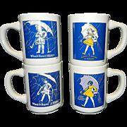Vintage Morton Salt Girl Advertising Coffee Mug Set