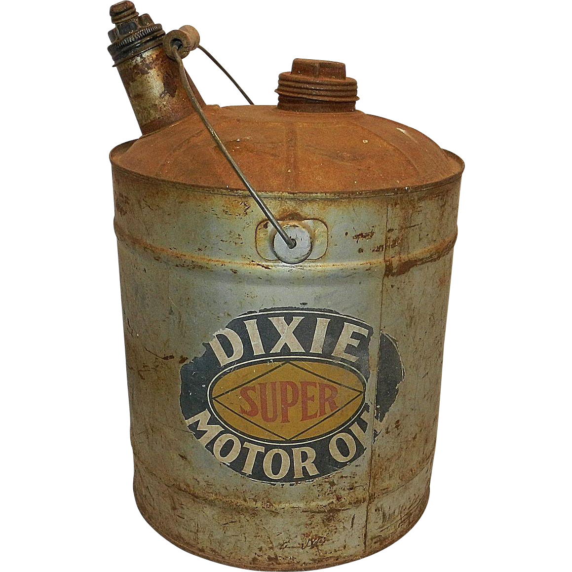 Vintage dixie motor oil can from mygrandmotherhadone on for Motor oil weight meaning