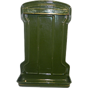Vintage Green Enameled Steel Kitchen Utensil Wall Rack