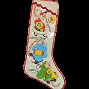 Vintage Chipmunks Christmas Stocking