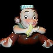 Vintage Napco Made in Japan Ceramic Monkey Planter