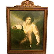 Vintage Henry Raeburn Lithograph and Frame