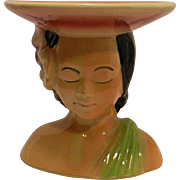 Vintage Shawnee Pottery Polynesian Woman Vase