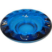 Vintage Viking Blue Glass Ashtray