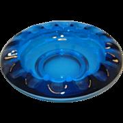 Vintage Viking Blue Glass Ashtray