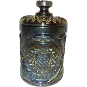 Vintage Carnival Glass Canister by Imperial Glass Company