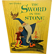 Vintage Walt Disney Children's Big Golden Book the Sword in the Stone