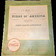 Vintage Coca-Cola Audubon Birds of America Wall Calendar