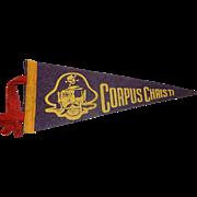 Vintage H.H. Tammen Company Corpus Christi Travel Pennant-