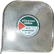 Vintage Disston Carlson 50 FT. Star Chief Tape Measure