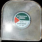 Vintage Disston Carlson 50 FT. Star Chief Tape Measure