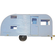 Vintage Tootsie Toy Travel Trailer
