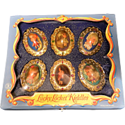Vintage Mattel Lucky Locket Kiddles Collectible Jewel Case Set-