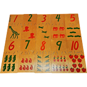 Vintage Creative Playthings Matchmates Wood Number Puzzles Ages 3-6